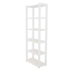 Knižnica STYL 6 políc biely lak