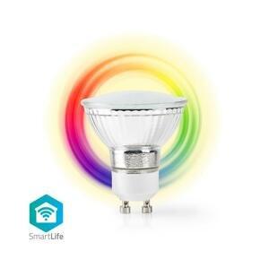 Nedis SMART LED žiarovka WIFILC10CRGU10, GU10, farebná/biela