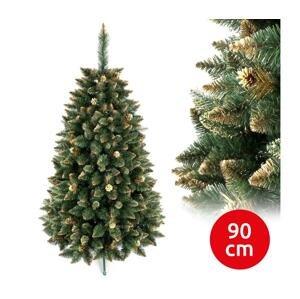 ANMA Vianočný stromček GOLD 90 cm borovica