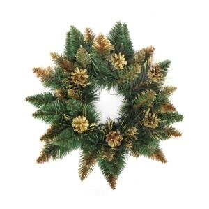 ANMA Vianočný veniec CRYSTAL ø 45 cm zlatá
