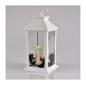 Polux LED Vianočná dekorácia LED/3xAAA lucerna biela sviečka