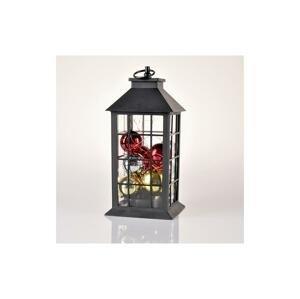 Polux LED Vianočná dekorácia LED/3xAAA lucerna čierna banky