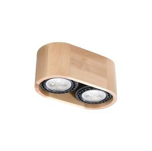 Sollux Stropné svietidlo BASIC 2xGU10/40W/230V drevo