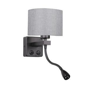 Candellux LED Nástenné svietidlo POLO 1xE27/40W+LED/2W 230V čierna
