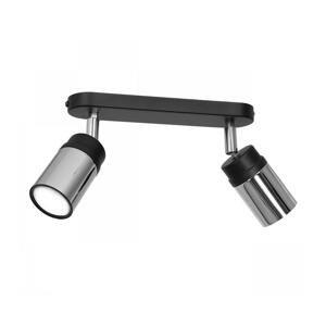Luminex Bodové svietidlo NEST 2xGU10/8W/230V čierna/chróm