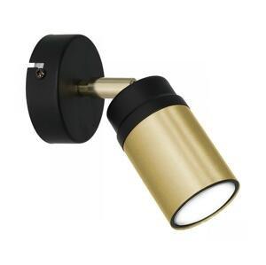 Luminex Nástenné bodové svietidlo NEST 1xGU10/8W/230V čierna/mosadz