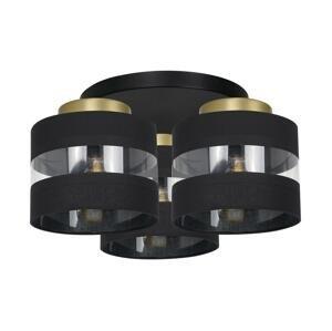 Luminex Prisadený luster HAVARD 3xE27/60W/230V čierna/mosadz