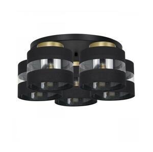 Luminex Prisadený luster HAVARD 5xE27/60W/230V čierna/mosadz