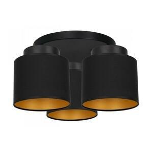 Luminex Prisadený luster FRODI 3xE27/60W/230V čierna
