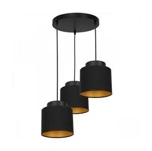 Luminex Luster na lanku FRODI 3xE27/60W/230V čierna guľatý