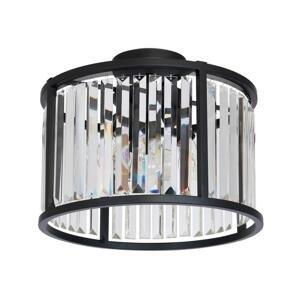 Luminex Prisadený luster HENRY 3xE27/60W/230V čierna