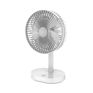 Platinet Stolný nabíjací ventilátor s LED lampou 3000mA/3,7V microUSB