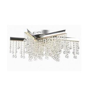 Auhilon LED Krištáľový prisadený luster TORNERO LED/56W/230V chróm