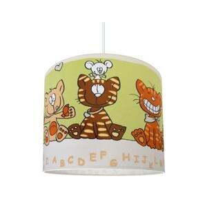 Lampdar Detský luster CAT 1xE27/60W/230V zelená