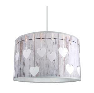 Lampdar Luster na lanku HEART 1xE27/60W/230V