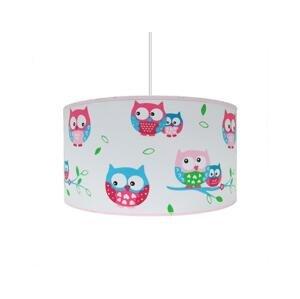 Lampdar Detský luster OWLS 1xE27/60W/230V biela