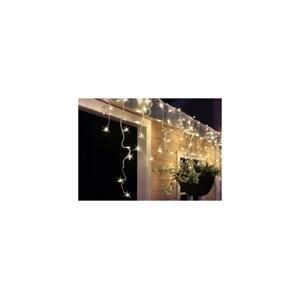 Solight LED vianočné záves, cencúle, 120 LED, 3m x 0,7m, prívod 6m, vonkajšie, teplé biele svetlo, pamäť,časovač, 1V40