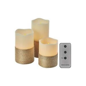 EMOS SADA 3x LED Dekoračná sviečka 3xLED/0,06W/3xAAA + diaľkové ovládanie