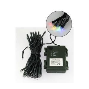 Baterie centrum LED Vianočná vonkajšia reťaz 5,4 m 50xLED/3xAA farebná IP44