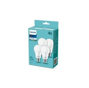 Philips SADA 4x LED Žiarovka Philips A60 E27/10W/230V 4000K