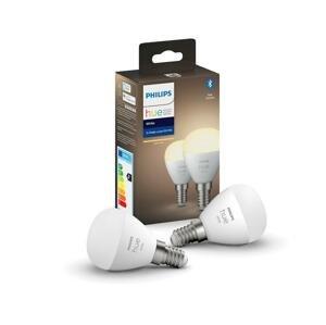 Philips SADA 2x LED Stmievateľná žiarovka Philips Hue WHITE P45 E14/5,5W/230V 2700K