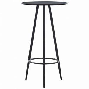 Barový stôl Ø 60cm Dekorhome Čierna