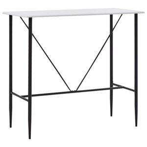 Barový stôl 120x60 cm Dekorhome Biela