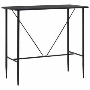 Barový stôl 120x60 cm Dekorhome Čierna