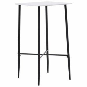 Barový stôl 60x60cm Dekorhome Biela