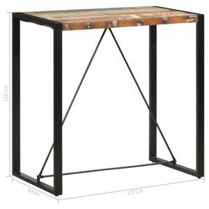 Barový stôl hnedá / čierna Dekorhome 110x60x110 cm