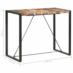 Barový stôl hnedá / čierna Dekorhome 140x70x110 cm