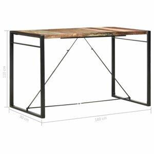 Barový stôl hnedá / čierna Dekorhome 180x90x110 cm