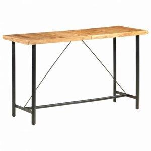 Barový stôl masívne drevo / oceľ Dekorhome Sheeshamové drevo
