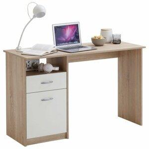 Písací stôl so zásuvkou Dekorhome Dub