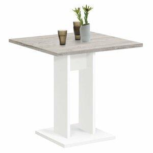 Jedálenský stôl 70 cm Dekorhome Biela / dub
