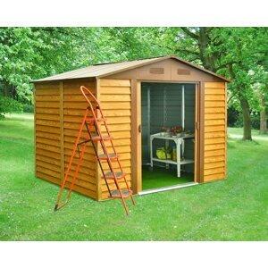 Záhradný domček 321 x 366 cm kovový Dekorhome