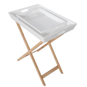 Servírovací stolík NORGE prírodná / biela Tempo Kondela