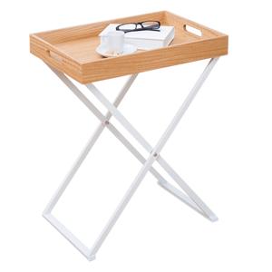 Servírovací stolík BELENE biela / prírodná Tempo Kondela