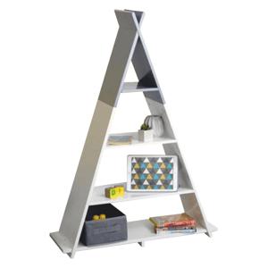 Detský regál BARNIE v tvare pyramídy Tempo Kondela Biela