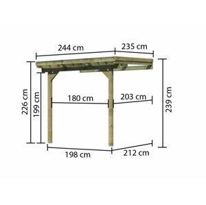 Drevená pergola ECO A 244 cm Dekorhome 235 cm