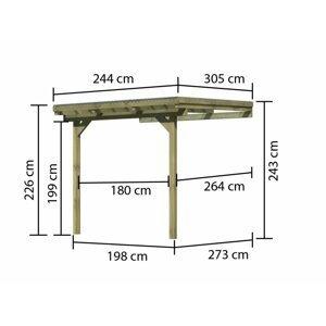 Drevená pergola ECO A 244 cm Dekorhome 303 cm