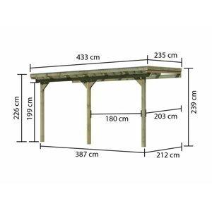 Drevená pergola ECO B 433 cm Dekorhome 235 cm