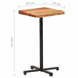 Barový stôl hnedá / čierna Dekorhome 50x50x110 cm