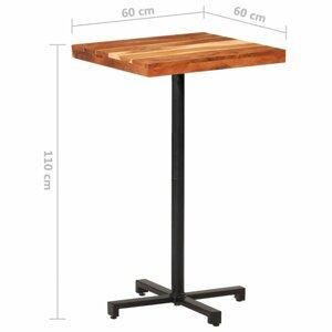 Barový stôl hnedá / čierna Dekorhome 60x60x110 cm