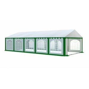 Záhradný párty stan 6x10m PREMIUM Biela / zelená
