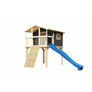 Detské ihrisko so šmýkačkou Dekorhome Modrá