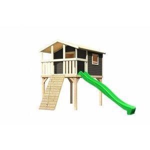 Detské ihrisko so šmýkačkou Dekorhome Zelená