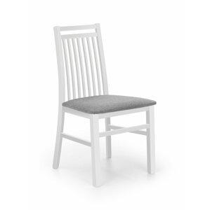 Jedálenská stolička HUBERT 9 biela / sivá Halmar