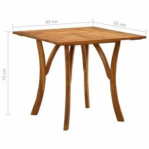Záhradný stôl hnedá Dekorhome 85x85x75 cm