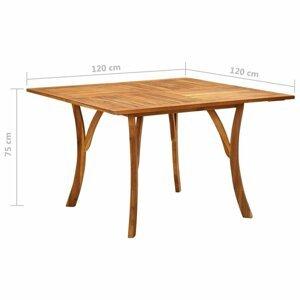 Záhradný stôl hnedá Dekorhome 120x120x75 cm